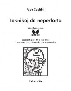 teknikoj de neperforto - Aldo Capitini